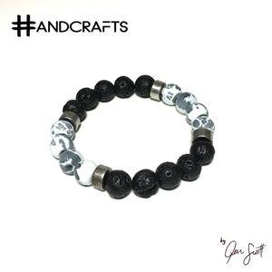 Lava and Gemstone Beaded Aromatherapy Bracelet